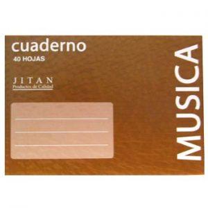 CUADERNO D NOTAS MUSICA 40 HOJAS