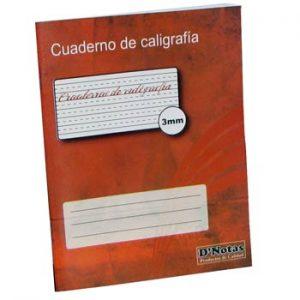 CUADERNO D NOTAS CALIGRAFIA 3 MM 40 HOJAS