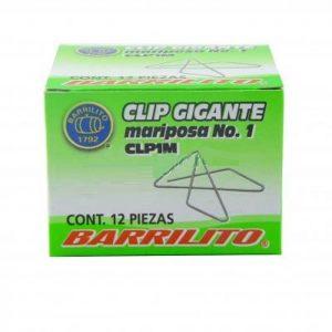 CLIPS BARRILITO MARIPOSA #1 12 UNIDADES CLP1M