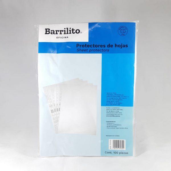PROTECTOR HOJAS BARRILITO OFICIO PHO100 PAQ.100 UN