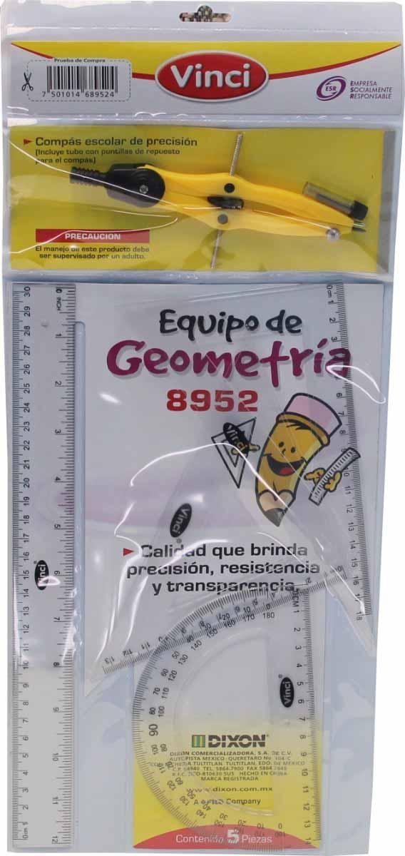 JUEGO DE GEOMETRIA VINCI 30 CM MODELO 8952 GRANDE