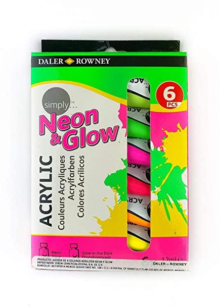 ACRILICO NEON DALER & ROWNEY SET 6 UDS 12 ML