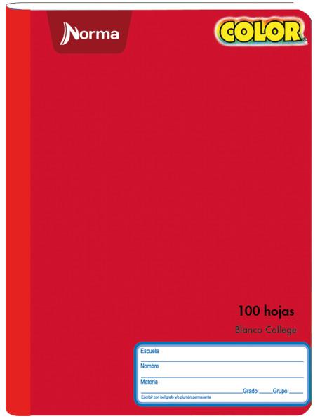 CUADERNO COSIDO GRANDE COLOR 100H 2020(30)