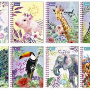 CUADERNO DOBLE O PROFESIONAL ANIMAL BOOK 80H 2020