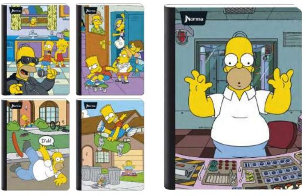 CUADERNO DOBLE O GRANDE THE SIMPSON 100 H 2020