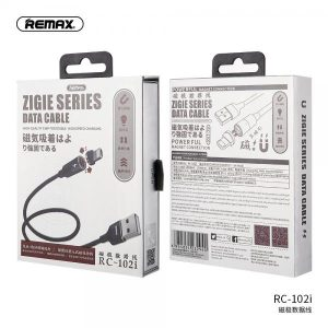 CABLE USB TIPO C RC-102A SERIES ZIGIE REMAX NEGRO