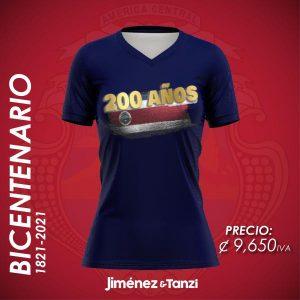 CAMISETA BICENTENARIO MUJER BANDERA 200 AZUL