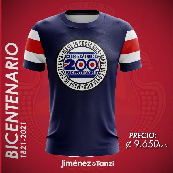 CAMISETA BICENTENARIO HOMBRE 200 COSTA RICA