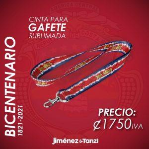 CINTA PARA GAFETE BICENTENARIO BANDERA CR