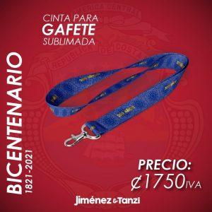 CINTA PARA GAFETE BICENTENARIO AZUL 200