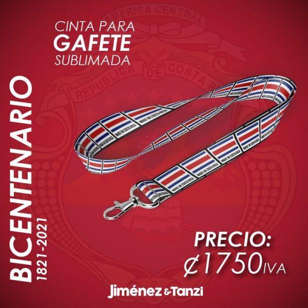 CINTA PARA GAFETE BICENTENARIO BANDERA CR BLANCA